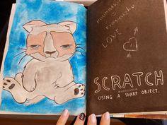 Scratch using a sharp object