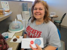 """Congratulations to Beavercreek donor Barbara Handorf who made her milestone 90th lifetime blood donation Friday, March 7 at the downtown Dayton CBC Donor Center. """"I got started when I was in college (Defiance College), """"she said. """"I was 18 and it was my first donation."""""""