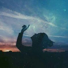 Awesome Silhouette Photography by Emilya Costa Posts Tumblr, Silhouette Photography, Photo D Art, Double Exposure, The Dreamers, Northern Lights, Fantasy, Stars, Drawings