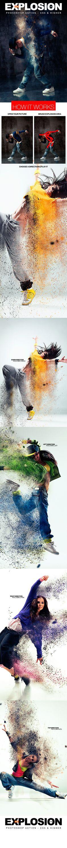 Explosion Photoshop Action