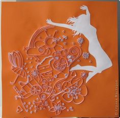 quilling. Love the idea of using the silhouette!!