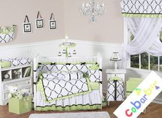 Gorgeous High Quality 100% Cotton Designer Print Baby Nursery 9-PC Bedding Set 5 Sizes Available
