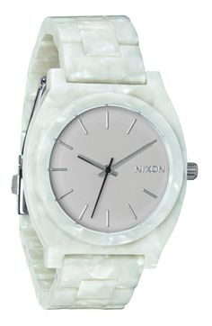 Nixon 'The Time Teller' Watch available at #Nordstrom Surf, Cute Clock, Brand Name Watches, Casio Watch, Fashion Watches, Michael Kors Watch, Watches For Men, Unique Watches, Nixon Watches