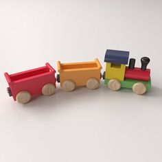 Diy Wooden Toys Plans, Wooden Toy Train, Making Wooden Toys, Wooden Diy, Train Truck, 3d Modelle, Christmas Train, Pull Toy, Wood Toys