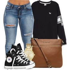 Would you keep it Real if my heart Belonged to you? by bria-myell on Polyvore featuring Victoria's Secret, Converse, MICHAEL Michael Kors, Kate Spade, women's clothing, women's fashion, women, female, woman and misses