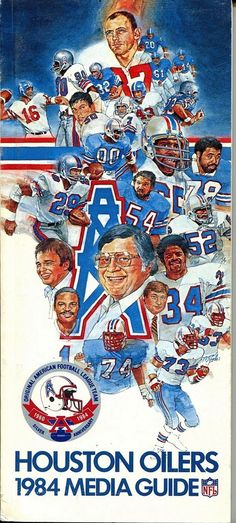 houston oilers national #Football leauge 1984 media guide from $18.95