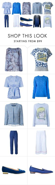 """tops fashion trends"" by monica022 ❤ liked on Polyvore featuring Blumarine, Valentino, MSGM, Polo Ralph Lauren, Tagliatore, Zoe Karssen, Missoni, Thakoon, Charlotte Olympia and Nicholas Kirkwood"