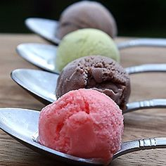 Blood Orange Sorbet, Bacio, Pistachio & Nutella Gelatos!
