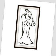 Wedding cross stitch pattern - cross stitch pattern wedding -  PDF Instant Download