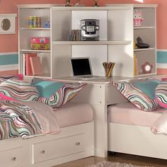 Corner Twin Beds on Pinterest   Twin Bed Comforter, L Shaped Beds ...