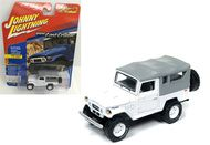 1980 Toyota Land Cruiser White 3600 Made 1/64 Scale By Johnny Lightning JLSP004 A