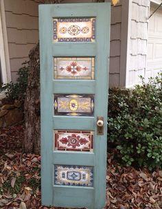 Hand painted antique vintage inspired door por OneInAMillionFinds