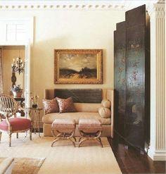 Tiny sofa/love seat ---Suzanne Kasler