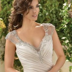 Cap sleeves, delicate hand beading and glorious fabric! Love @jasmine_bridal's Style F181011 from their Spring 2016 collection. #JasmineBridal #capsleeves #beading #love #weddingdress #bridalgown #love #beauty #bridalfashion #bridaldesigner #bridalstyle #
