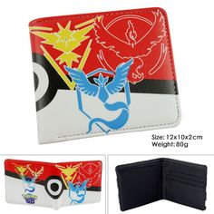 Womens Short Purses Pokemon Go Men's Pu Leather Cartoon Wallets Billfolds Small Purses Wallet For Teenager