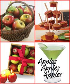 "Go to the head of the class and invite your friends over for a Back To School Night party.  Celebrate September with cupcakes and cocktails and get an ""A"" for a simple and special idea. Make it a ladies night and toast to another school year.  Go with an apple theme, teachers are not the only ones that love them.  Serve up Green Apple Martinis and Candy Apple Cupcakes.  Decorate with red and green apples…"