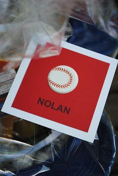 baseball party favors | repinned by www.imagine.willowhouse.com