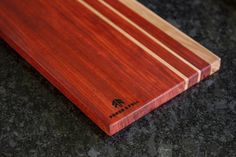 SALE Padauk and Maple Modern Striped Cutting by ForgeAndFell