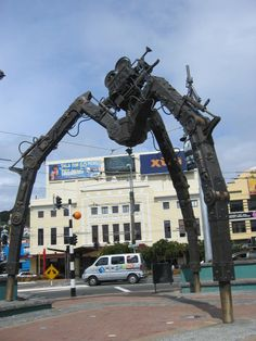 Tripod - Heavy Metal for Weta Workshop. Courtenay Place, Wellington, New Zealand.