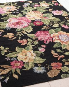 """Shop """"Waterfall Rose"""" Rug, x at Horchow, where you'll find new lower shipping on hundreds of home furnishings and gifts. Colorful Roses, Hand Tufted Rugs, Romantic Homes, Floral Rug, Rose Cottage, Rugs On Carpet, Carpets, Carpet Flooring, Floor Rugs"""