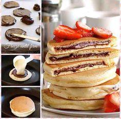 Nutella scotch pancakes