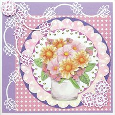 Card with Doodles and flowers