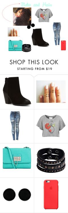 """""""Sem título #148"""" by eumaryb ❤ liked on Polyvore featuring Report, Language Of Flowers, Dolce&Gabbana, Replay, AeraVida and Apple"""