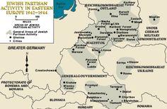 The Bielski Partisans in Belarus — Map