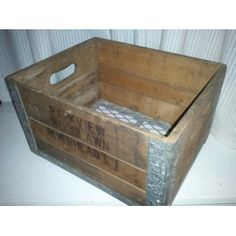 Antique Milk Crate - Strong metal edges with steel grate bottom - RIVERHEAD LONG ISLAND - SOLD