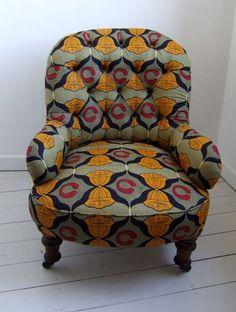 african wax print chair #design