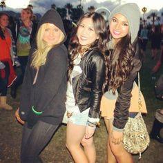 coachella post   ladies at the festival