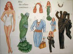 Rita Hayworth paper doll / sun1andsun2.blogspot.com