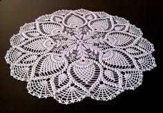 "Crochet Doily – 18"" Diameter – Round Lace Doily – Crochet, Gift Idea, Doily, cotton doily, Lace, Lace Doilies by RUhomedecor on Etsy"