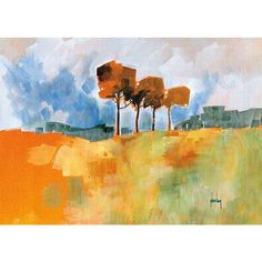 Decorate your wall with this stunning canvas art designed to fit any decor. Artist: Paul Bailey Title: Four Trees Product type: Canvas Style: Contemporary Format: Landscape Subject: Abstract Size: Ext