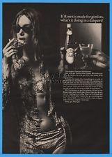 1966 Roses Lime Juice GImlets Daiquiri SEXY Bikini & Sunglass Wet Girl Print Ad