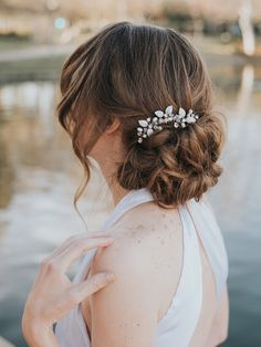 Bridal Quinceañera with CHANNEL for DYI ease Prom Clear Acrylic Hair Comb