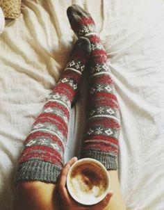 Knee High Knitted #Socks