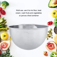 Stainless Steel Ingredients Flour Mixing Bowl Salad Mixer Soup Food Container Kitchen Tools ... (This is an affiliate link) Mixing Bowls, Food Containers, Fruits And Vegetables, Kitchen Tools, Mixer, A Food, Soup, Salad, Stainless Steel