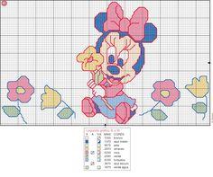 Schema punto croce Minnie2