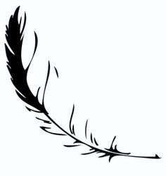 feather silhouette tattoo design 283x300