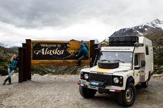 Como assim, pela terceira vez no Alasca? Se vocês repararem no mapa do Alasca, verão que há uma faixa estreita pertencente a este estado que desceaté quase a metade do Canadá. Foialique visitamo...