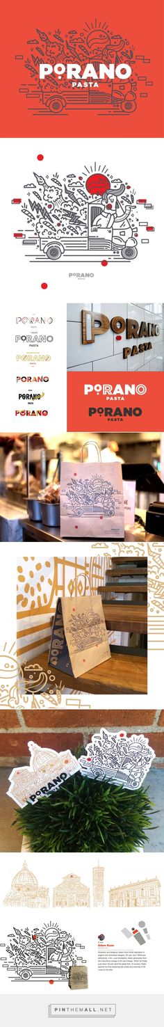 Packaging, branding and illustration for Porano Pasta on Behance by Adam Koon…