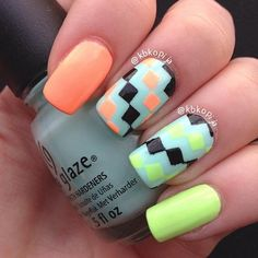 Checkered nails #credsHairBeauty