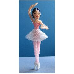 3D Beaded Ballerina Doll Pattern | Bead-Patterns.com