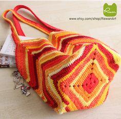Red crochet market bag, Multicolor beach bag, Colorful bag, Crochet beach bag, Boho bag, Valentines Gift, tote Bag, Red shoulder bag