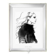 Jessica Durrant print. mirrored frame wool wall home decor interior design