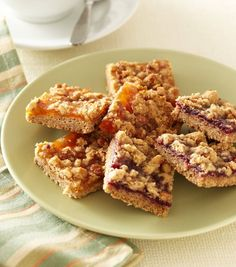 These jam crumble bars from Good Housekeeping use a handful of regular ingredients found in most kitchens, including jam. Photo from Good Housekeeping. Photo by Kate Mathis.