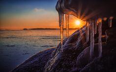 Icicle Sunset by Tapio Kaisla   Earth Shots