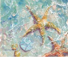 Watercolor Starfish Painting