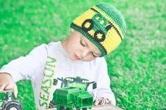 Crochet John Deere Tractor Hat 6  12 month 1224 by jwhizcrochet, $18.00
